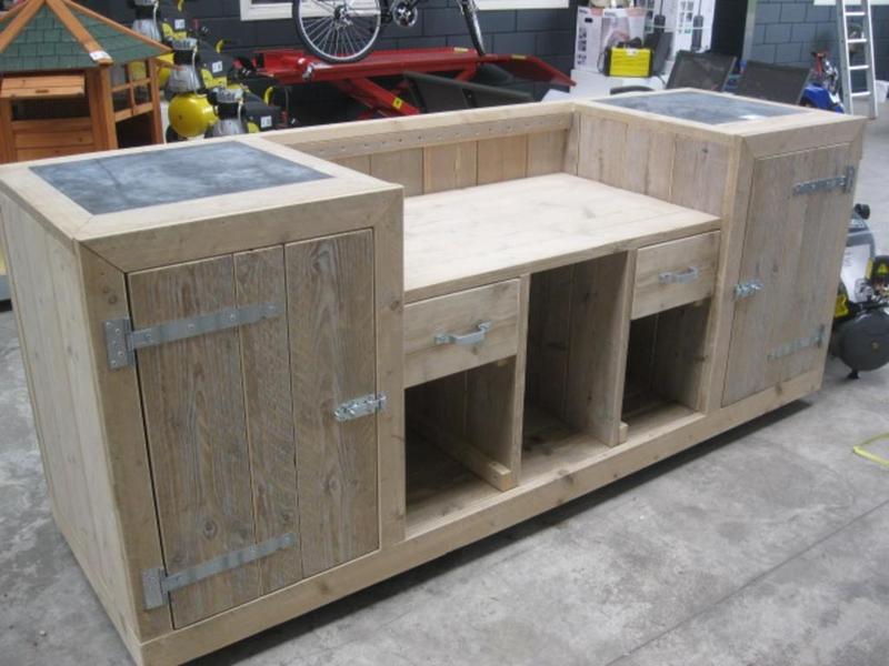 Steigerhouten buitenkeuken maken klik hier gratis for Zelf meubels maken van hout