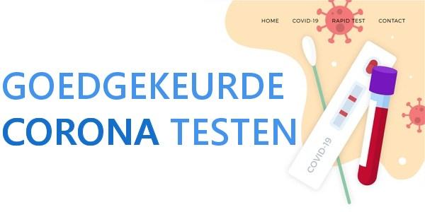 goedgekeurde corona testen